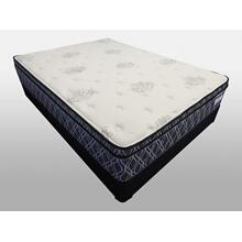 Samira Euro Pillow Top - King Size Mattress Set for a Queen Size Price