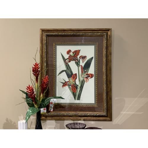 Botanical Wall Art with Ornate Frame