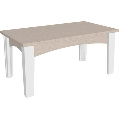 Island Coffee Table Premium Birch and White