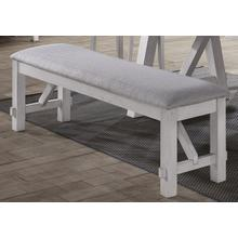 Maise White/Brown Bench
