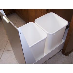 """Imperial Hoods - 15"""" Recycling Cabinet White with White Panel"""