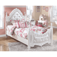 See Details - Exquisite- White- Twin Poster Bed