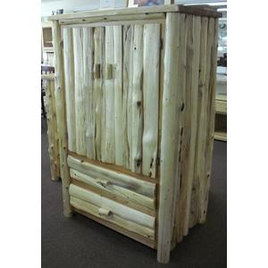 White Cedar Log Armoire