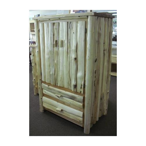 Cozy Creations Collection - White Cedar Log Armoire