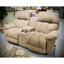 RETREAT Rocking Loveseat w/Console in Truffle       (L800RC7-18639,27953)