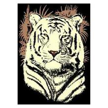 Medium - Adventures White Tiger Head 5x8 Rug