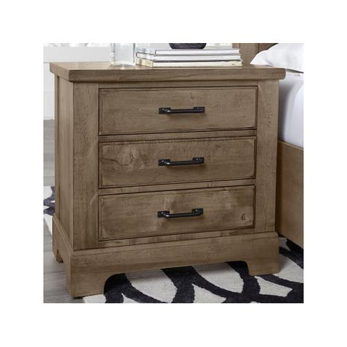 Cool Rustic Stone Solid Maple Nightstand