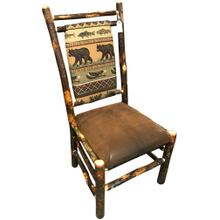 Upholstered Amish Hickory Side Chair