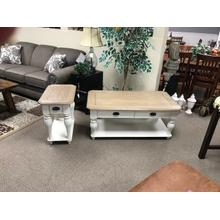 Product Image - 2 Tone White Cocktail And End Table