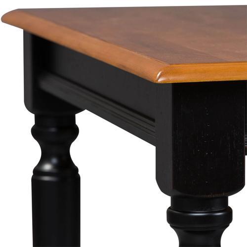 Rectangular Leg Table - Anchor Black Finish with Suntan Bronze