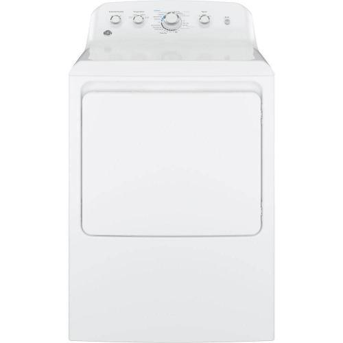 GE Appliances - GE 7.2CF White Electric Dryer