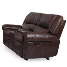 See Details - Michelle Gliding Reclining Loveseat with Console