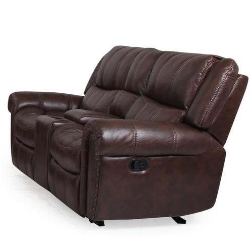 Manwah - Michelle Gliding Reclining Loveseat with Console