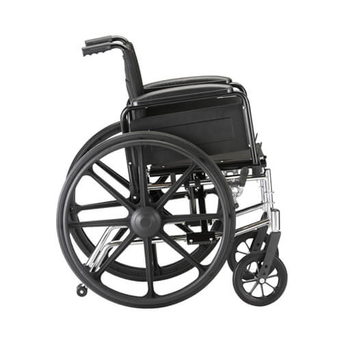 """Gallery - 16"""" Lightweight Wheelchair w/ Full Arms & Footrests"""