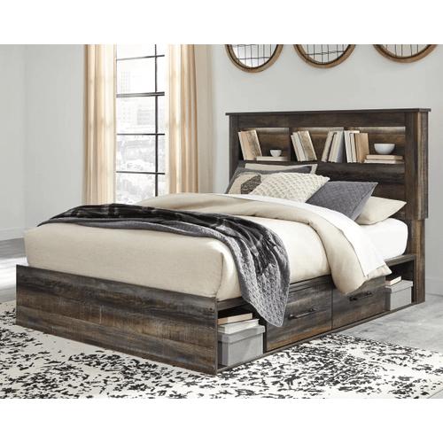 Drystan- Multi- Queen- Bookcase Storage Bed