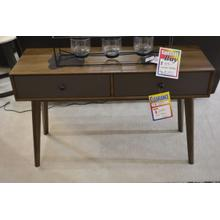 Ashley Furniture wooden 2 drawer sofa table.