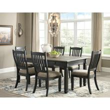 Tyler Creek 7 Pc Dining Set Black/Gray