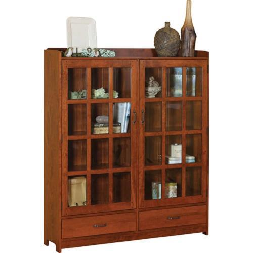 2 door, 2 drawer bookcase