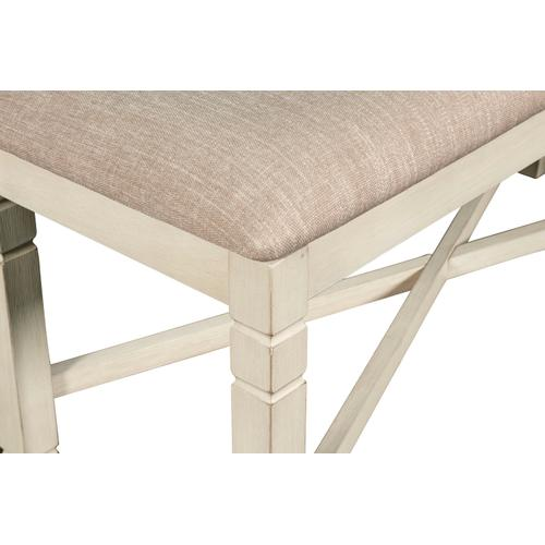 Prairie Point Dining Bench in Cottage White Finish