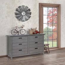 Evolur Waverly Double Dresser- Rustic Grey
