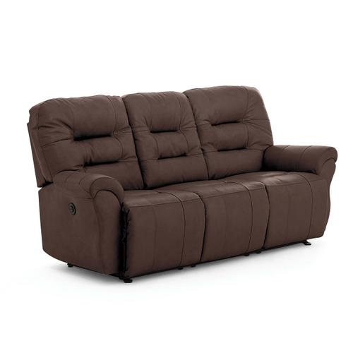 Unity Power Rocking Reclining Leather Console Loveseat (Birch)