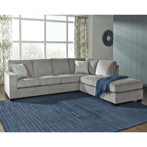 Altari - Alloy - 2-Piece Sectional with Right Facing Chaise and Full Sleeper