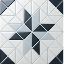 Blue Mountain Blossom 2 Triangle Geometric Kitchen Wall Tiles