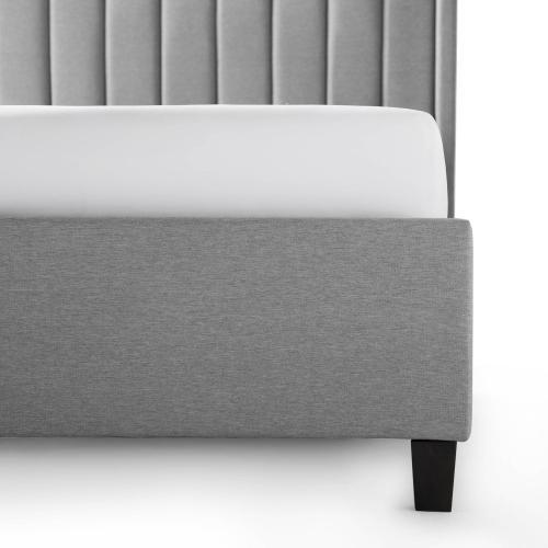 Malouf - Malouf Blackwell Designer Bed- Stone