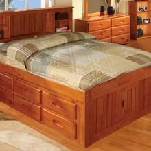 Honey Full Bookcase Captains Bed