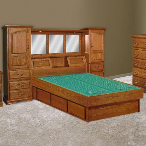 Venetian Wall Unit Waterbed & Casepieces Available in King and Queen