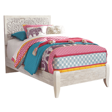 Paxberry- White Wash- Twin Panel Bed