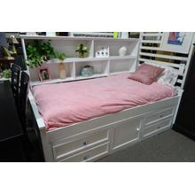 Twin Bed w/Side Bookcase and Underbed Storage