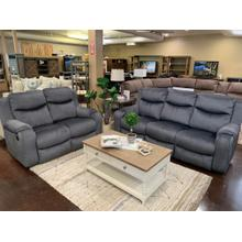 View Product - Double Reclining Loveseat- Bahari Charcoal