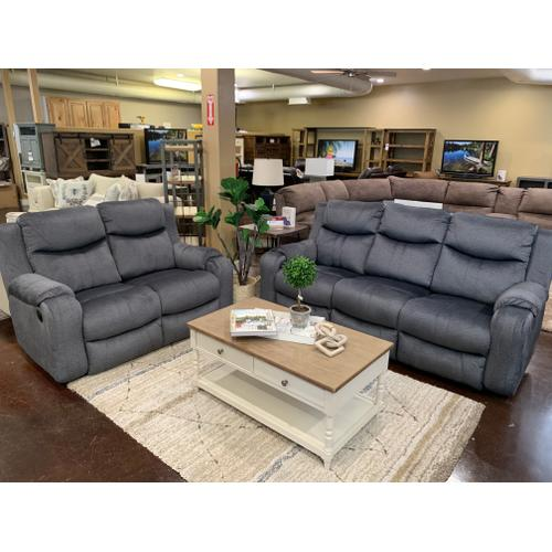 Southern Motion - Double Reclining Loveseat- Bahari Charcoal