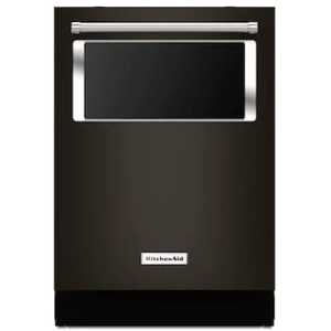 Kitchenaid 44 dBA Black Stainless Steel Top Control with Stainless Tub Dishwasher