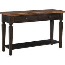 Vista Sofa Table in Hickory and Coal