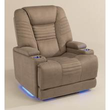 Bain Fabric Power Recliner with Power Headrest