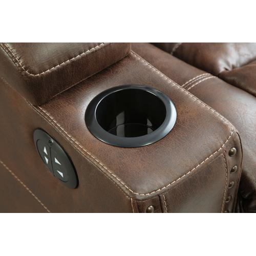 Owner's Box PWR Reclining Sofa with ADJ Headrest