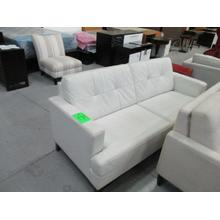 PALLISER WHITE LEATHER SOFA