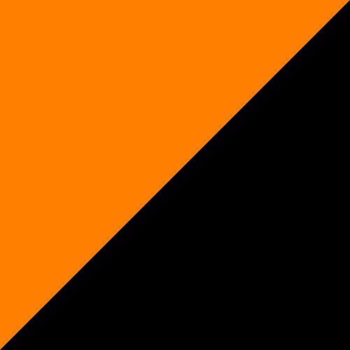 Adirondack Swing 5' Tangerine and Black