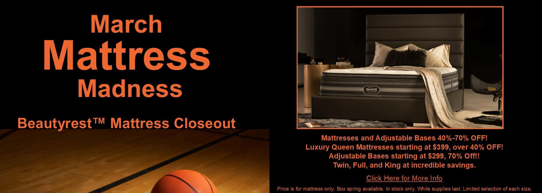 March Mattress Madness - Beautyrest Closeout