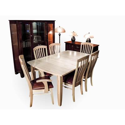 Curved Rockton Leg Dining Room Set