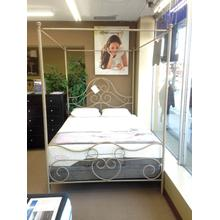 View Product - Wesley Allen Queen Size Canopy Bed floor sample as is