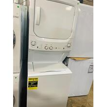 USED- GE Unitized Spacemaker® 3.8 cu. ft. Capacity Washer and 5.9 cu. ft. Capacity Gas Dryer STACK27E-U Seriall #1