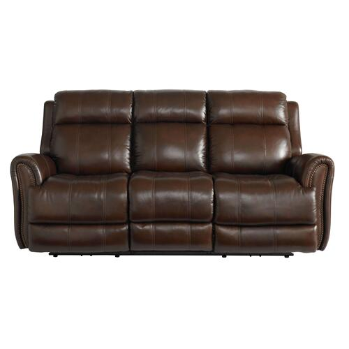Bassett Furniture - Marquee Leather Power Reclining Sofa with Power Tilt Headrests