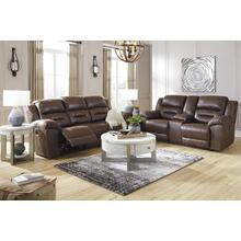 Stoneland Reclining Power Sofa & Console Loveseat Chocolate