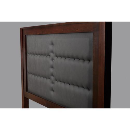 Manhattan - Queen Captain Bed Leather Headboard