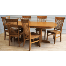 Laminate Top Double Pedestal Table & Solid Oak Chair