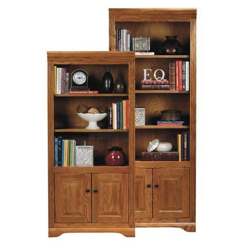"American Heartland Manufacturing - Oak 72"" Deluxe Bookcase"