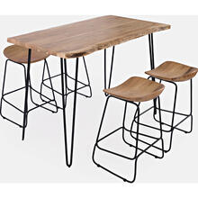 "Natures Edge 52"" Table & 4 Stools"